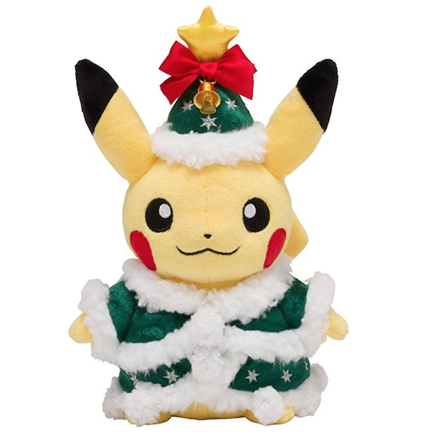 Christmas tree Pikachu plush