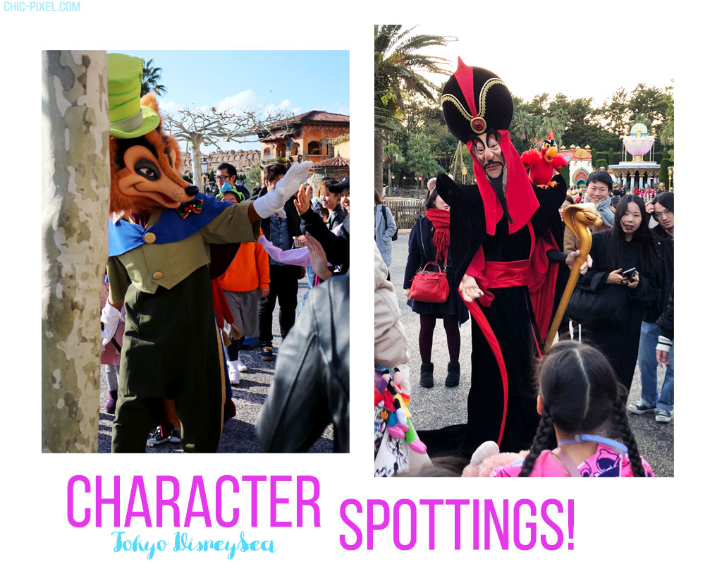 Visiting Tokyo DisneySea at Christmas Time character spottings