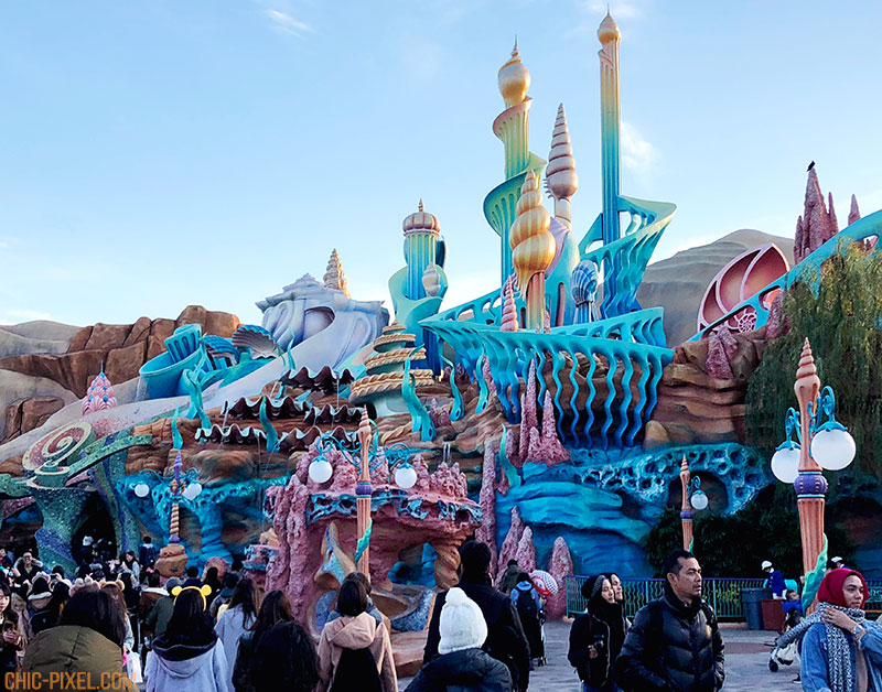 Visiting Tokyo DisneySea at Christmas Time Mermaid Lagoon