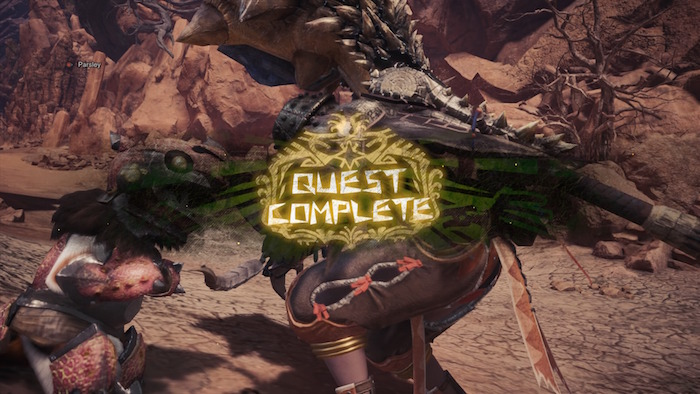 Monster Hunter World Beta PS4 Quest Complete