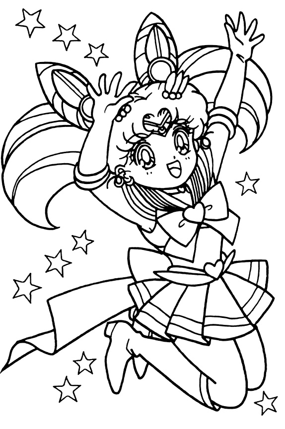 Sailor Moon Sailor Stars coloring book Sailor Chibi Moon