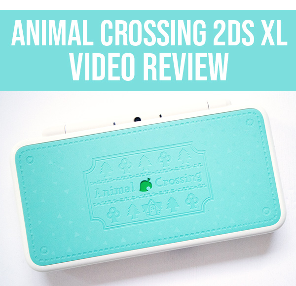Animal Crossing 2DS XL video review header