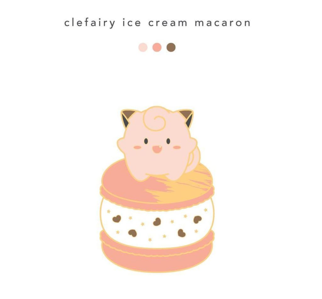 Clefary ice cream pin PaletteMeli