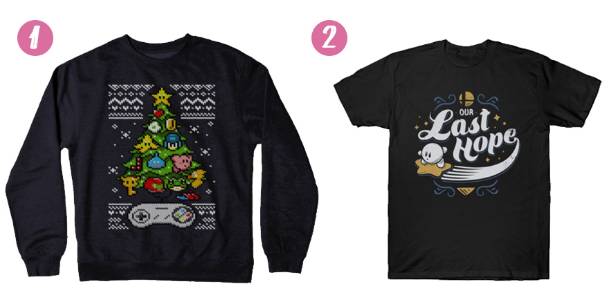 20 Holiday Gift Ideas for Video Game and Manga Fans shirts