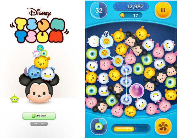 LINE Disney Tsum Tsum screenshot Disney game