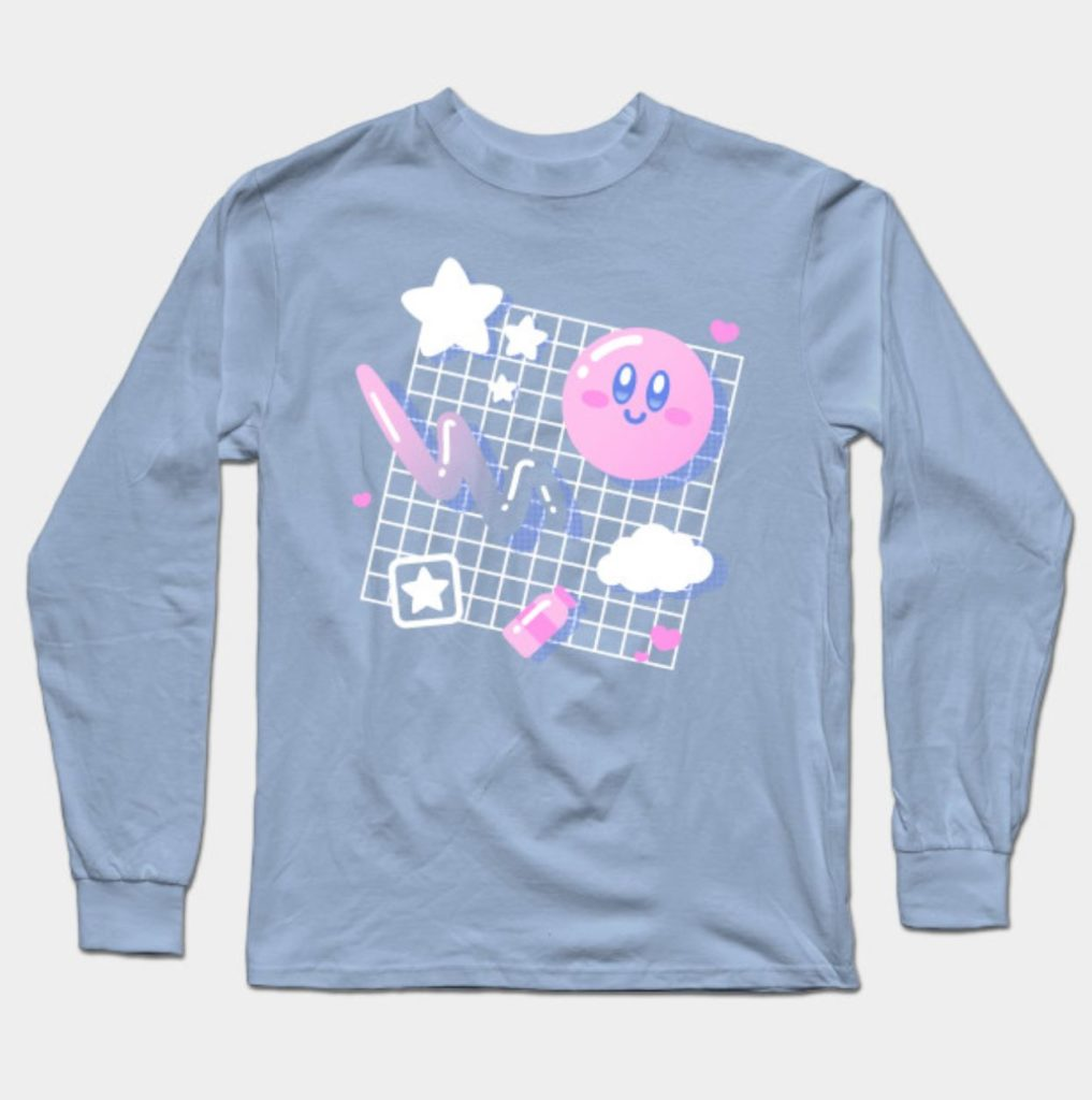 Top 10 Chic Pixel Picks Creator Store Products pink puff aesthetic long sleeve t-shirt