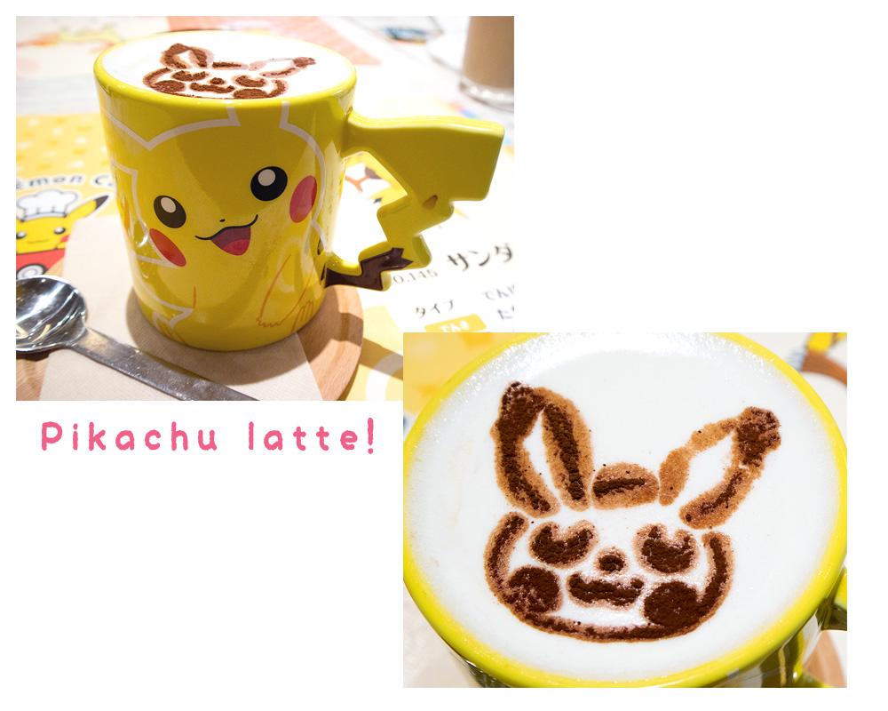 Pokemon Cafe Tokyo Pikachu latte