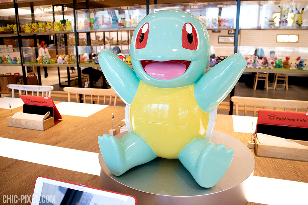Pokemon Cafe Tokyo interior squirtle