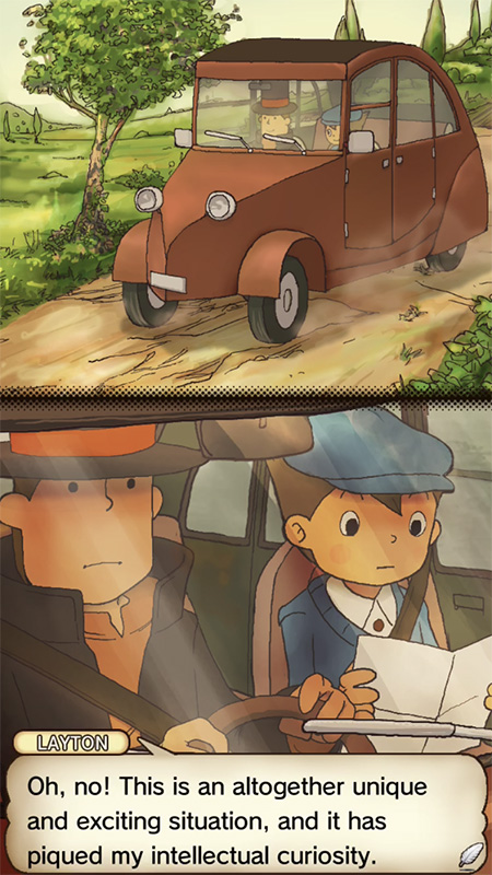Professor Layton and the Curious Village HD screenshot iOS