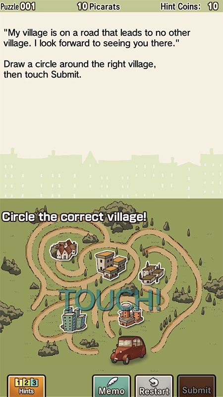 Professor Layton and the Curious Village HD screenshot iOS 2