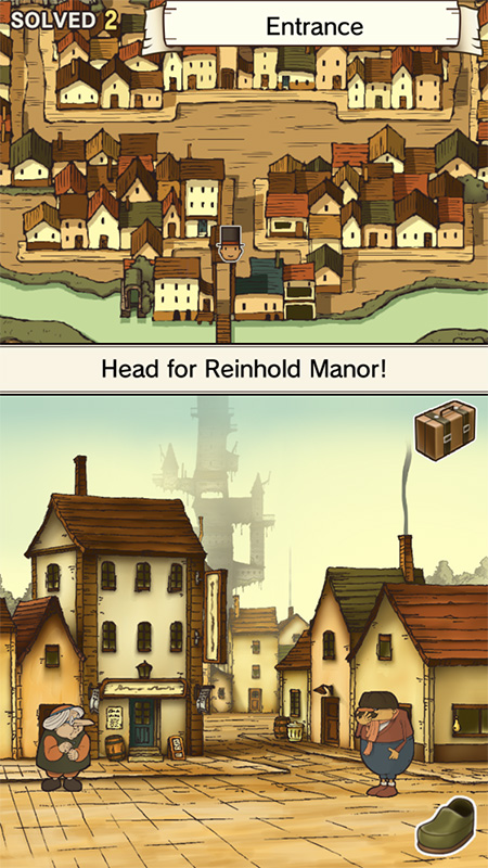 Professor Layton and the Curious Village HD screenshot iOS 3