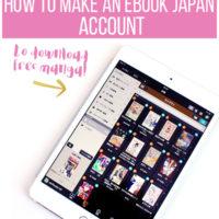 How to make an eBook Japan Account to Download Free Manga