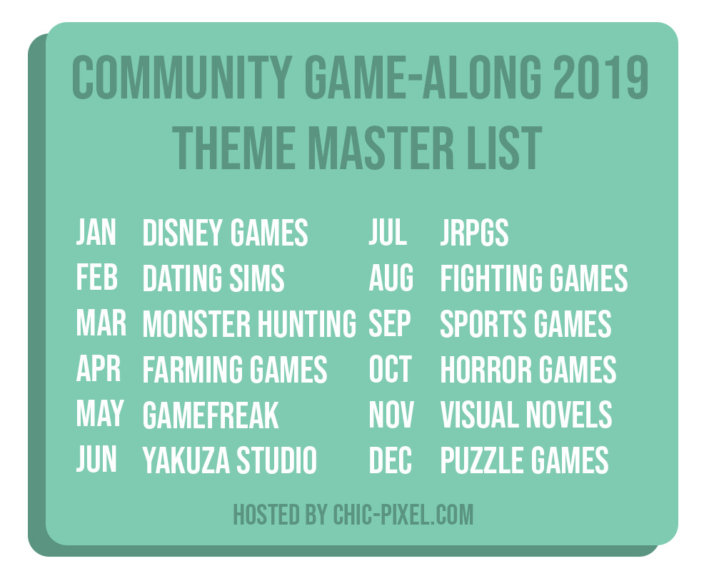 2019 Community Game-Along Master List Text